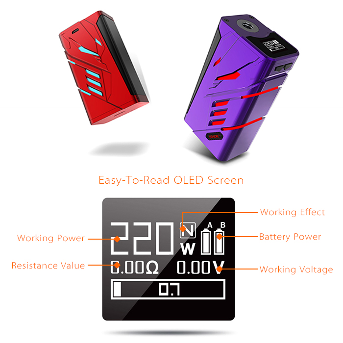 Latest Craze Pro Smoke Electronic Kit Express Smok Tpriv Mod With Stainless Steel 510 Threads RTA Tank