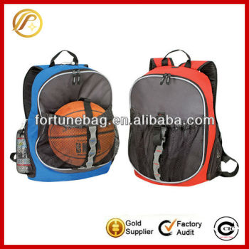 Generous and popular sport bag with ball holder