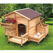 Professional wooden dog home pet house with weatherproof roof