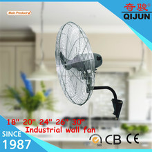 "CE standard 24"" reversible industrial wall fan with wall mount bracket"