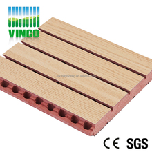 Fireproof MDF Grooved Acoustic Board V Groove Panels for Wall Ceiling