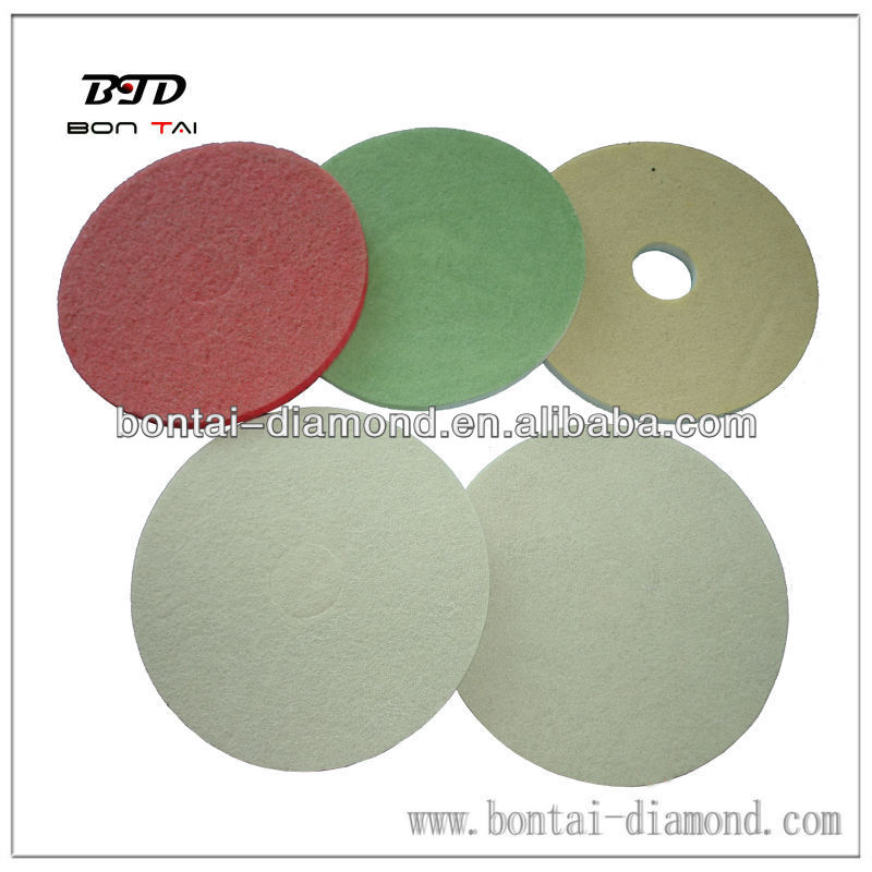 "17"" diamond sponge polishing pads dry use for concrete, granite, marble"