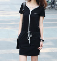 D21039Q 2014 NEW DESIGNS FASHION SLIM BIG YARDS CASUAL WOMEN'S SPORTS COTTON DRESS