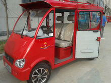 closed CNG passenger electric tricycle with Reversing