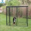 10 ft. x 5 ft. x 6 ft. black powder-coated chain link boxed kennel
