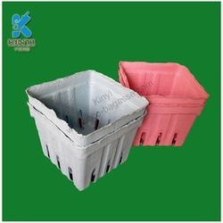 Biodegradable recyclable fiber pulp berry paper baskets