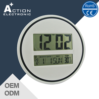 Auto Flip calendar digital wall clock thermometer