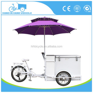 new fashion three wheels cargo bike price refrigerator van tricycle e bike mobile