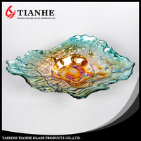 Factory new products art glass wall plates