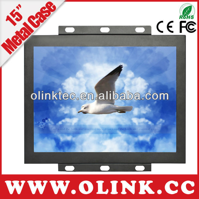 15, 12, 10, 8 inch chassis open frame touch screen monitor for POS, Parking System