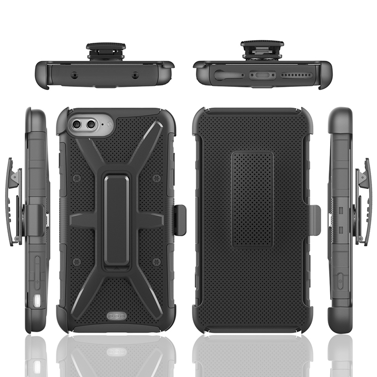 Belt Clip 3 in 1 Robot Kickstand Armor Case for iPhone 7 4.7 Hybrid Heavy Duty Defender Shockproof case CA1791