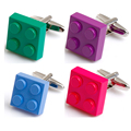 Colorful brass cufflink for mens shirts