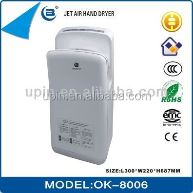 Guangzhou new design automatic high speed jet hand dryer for home