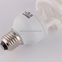 Hot Sell Twist Tube 220-240V Daylight Color 9W Pure Triphosphor CFL Lamp Bulbs E27 B22 Base Cell Half Spiral Energy Saving Lamp
