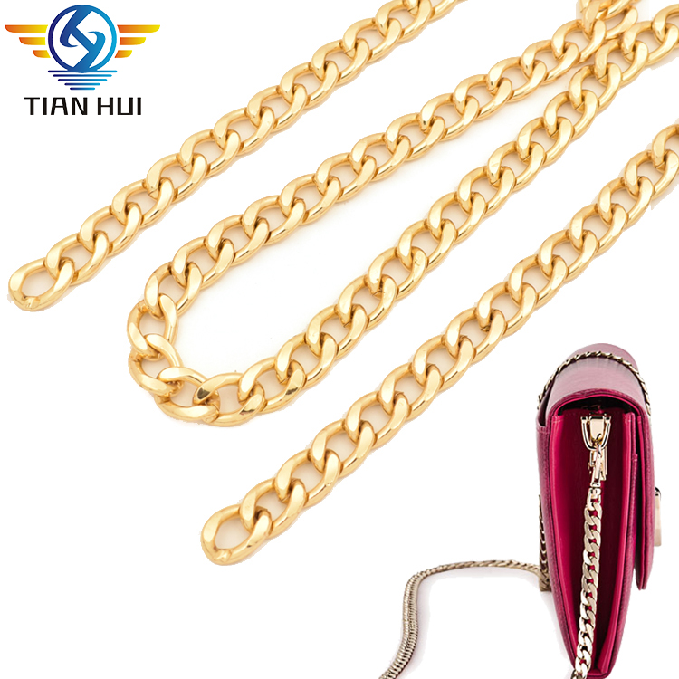 Fashion bag accessories metal replacement shoulder strap twist links <strong>chain</strong> for purse clutch wallet handbag