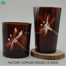 prayer candles/glass jar plain religious candle comntainer wholesale yufeng craft