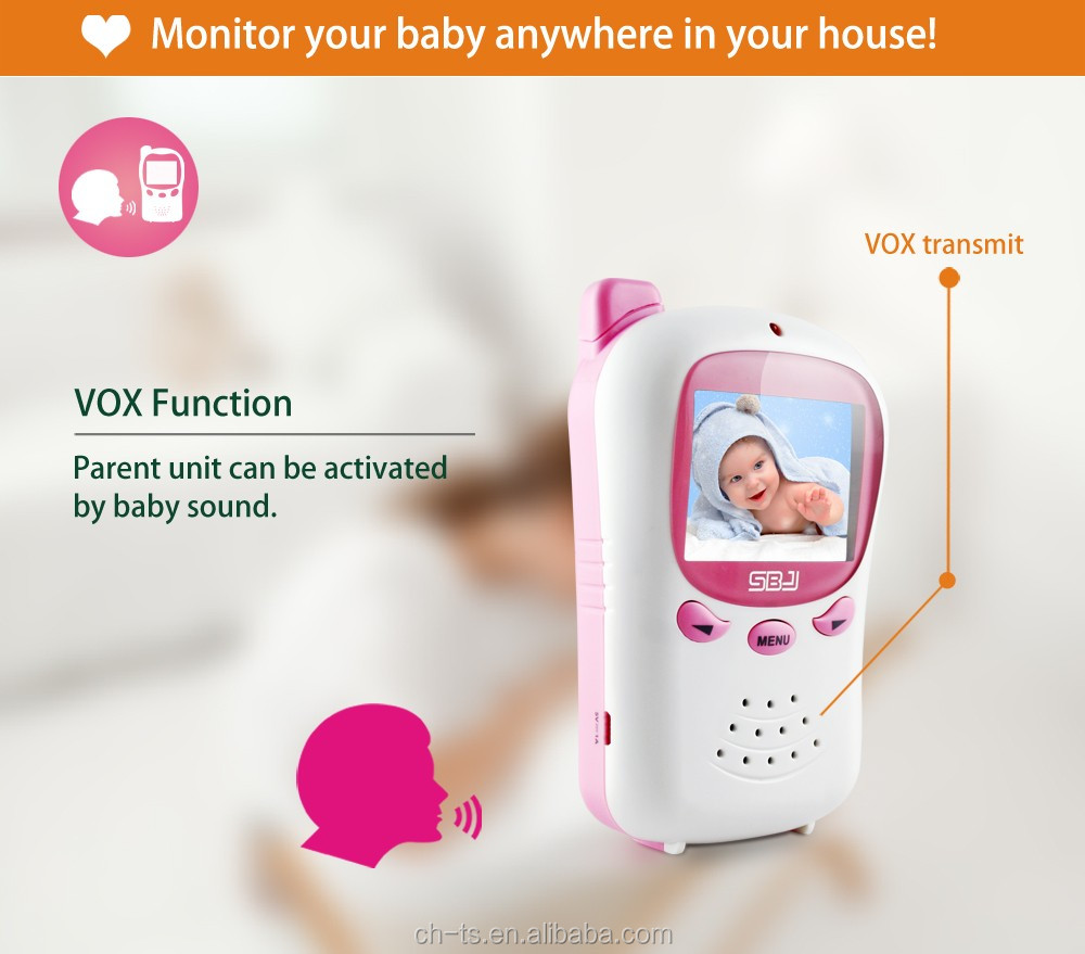 2.4 inch night vision wireless baby monitor camera / video baby monitor  best for babies