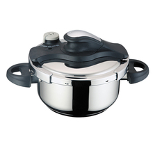 electric stainless steel pressure cooker with black pot