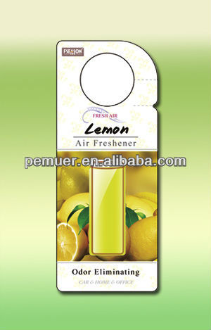 Fresh the air scented membrane car freshener scents