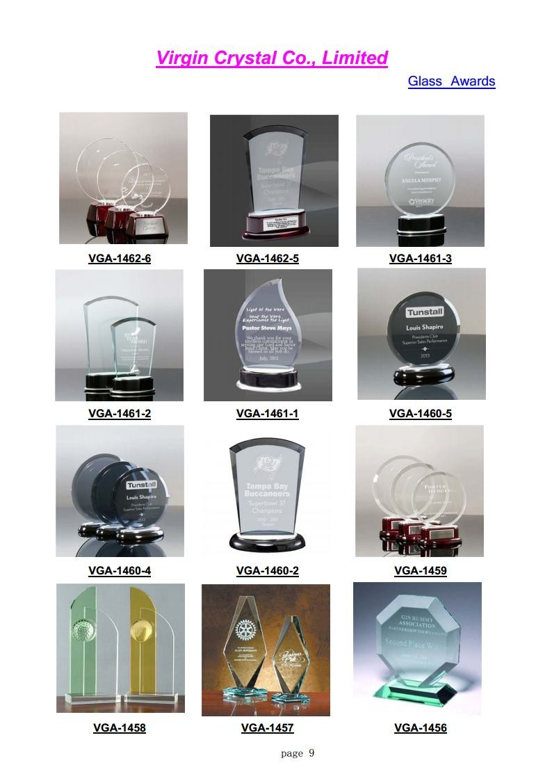 Wholesale Blank And Jade Glass Awards Glass Base For Corporate Gift