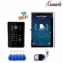 Smart video intercom door bell camera wireless intercom with RFID reader numeric keypad and remote controller