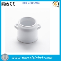 High white porcelain ceramic mini milk cans