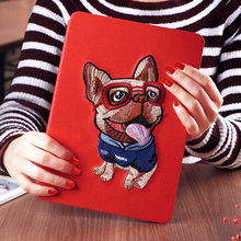 8-inch waterproof full page color printing shockproof pu leather drawing back cover case for grils for ipad 2 3 4