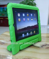 Green Child Kid Proof Monster Silicone Case +Film for iPad 2nd 3rd mini Gen