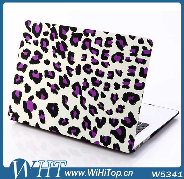 New Products Colored Case Leopard Skin Back Cover for Macbook Air Pro Retian11'' 13'15'' Matte Grip Shell Frosted Cover Skin
