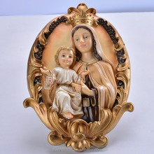 Wall hanging decoration virgin mary and baby jesus statue