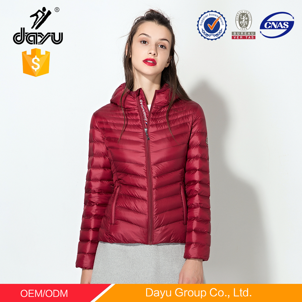 Deep red bolero down jacket women winter coats and jackets for children