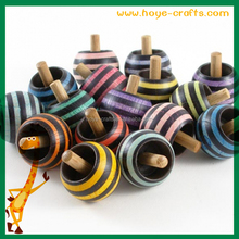 small quantity mixed colors spinning top
