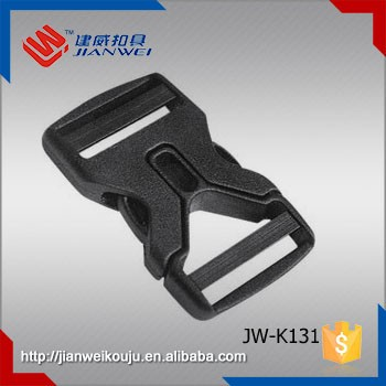 High quality double adjustable plastic quick release belt buckle , plastic buckle for briefcase JW-K131