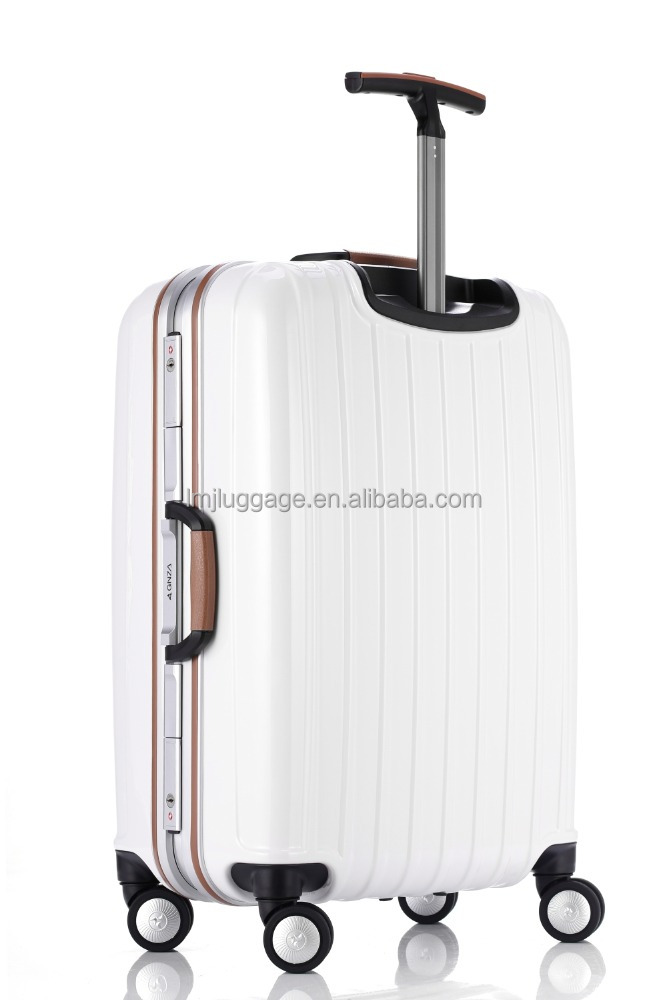 2016 hard abs pc trolley luggage suitcase 4 wheels abs trolley case/luggage