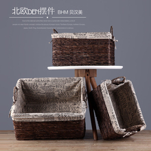 2017 high quality rattan folding basket wicker basket for wholesale
