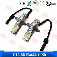 Pure White COB Chips Head Light With Led Fan Super Bright Xenon HID Kit Cheap H4 Car Led Headlamp