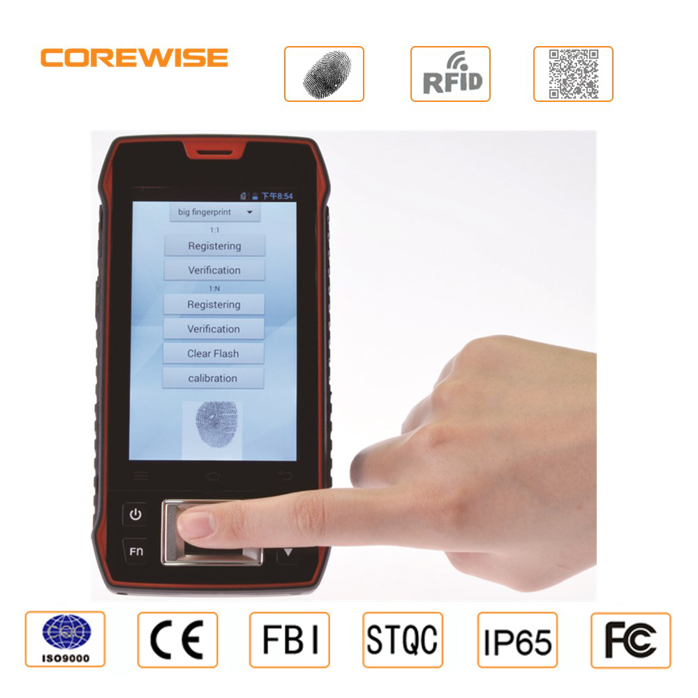 Wireless 4G LTE android 6.0 mobile biometric fingerprint with WIFI,4G,GPS,Bluetooth,RFID reader