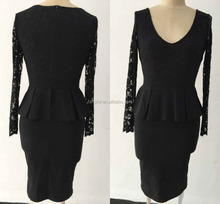 New office formal dresses for ladies long sleeves wear on party