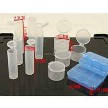 Round plastic gift ice storage case test tube with lid