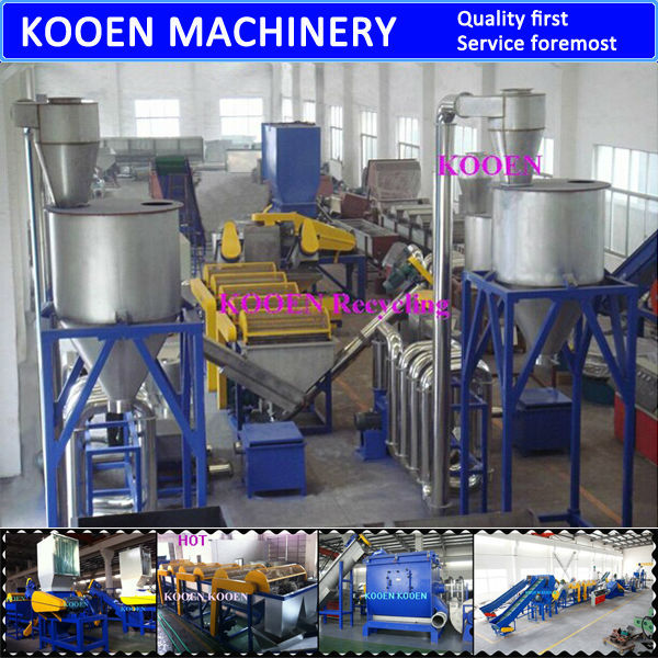 High efficiency plastic pp film recycling machine/recycling washing line