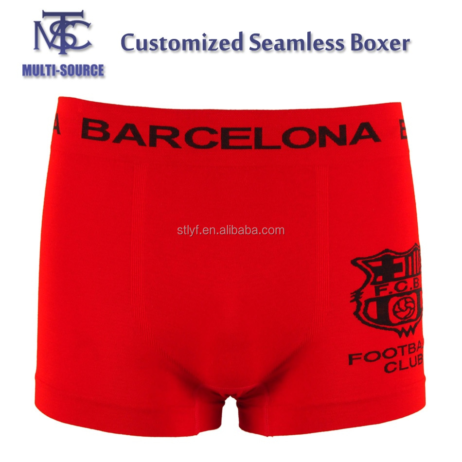 Customized men's seamless boxer,OEM type mens underwear.