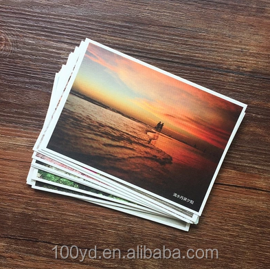 Alibaba china market popular DIY custom hologram postcard specialty paper printing