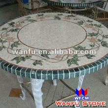 Round Marble Mosaic Table Patterns