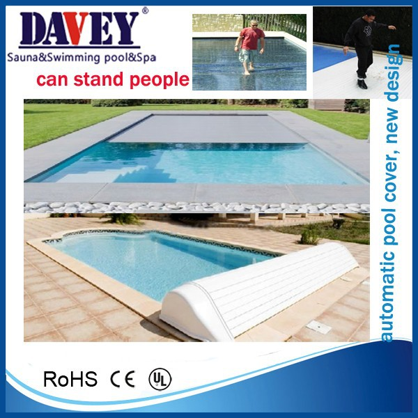 hot and new PVC stand people automatic electric swimming pool cover