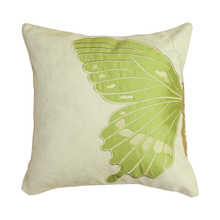 Faux suede half butterfly paired vivid embroidered pillowcase car home decor throw pillows