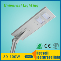 famous style integrated power 60w solar led street light all in one quality guarantee outdoor led street light made in china
