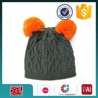 Latest Wholesale Good Quality knit children hat with flower wholesale