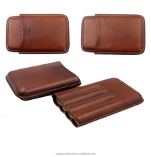 Genuine Leather Cigar case 2 pack kit