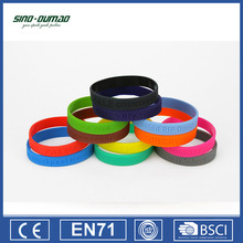 Custom Printing Personalized Silicone Rubber Wrist Band