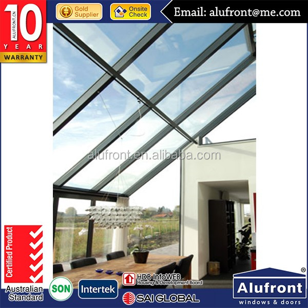Prefabricated new design aluminium frame glass sunroom